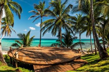 Beach side meditation platform