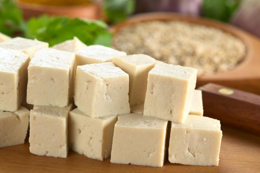 Raw Tofu in Dices